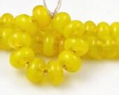 CiM Pollen - Handmade Artisan Lampwork Glass Beads 5mmx9mm - SRA (Set of 10 Spacer Beads)