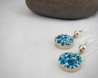 Swarovski Crystal Clay Sterling Earrings