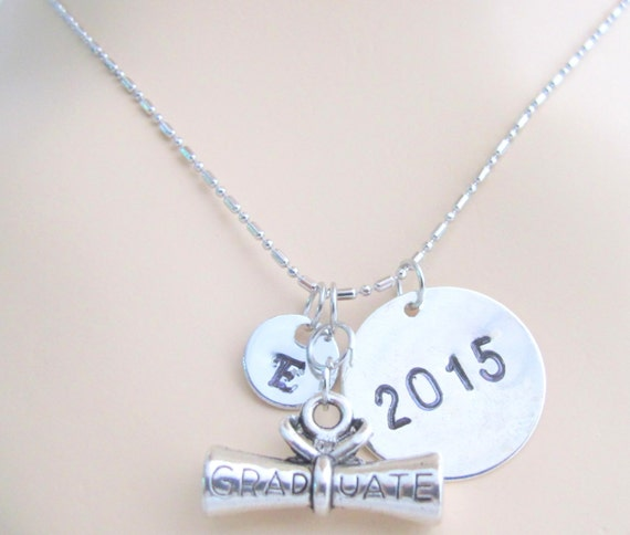 Graduation Necklace, 2016 Graduation Gift Pendant Personalized Graduation Necklace  Diploma Necklace, Graduation Gift   Free Shipping In USA