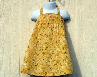 Golden Yellow Toddler Halter Dress Size 18 Months