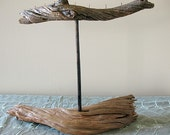 Salvaged Driftwood and Copper Jewelry Stand - No.63N - Large Necklace Display
