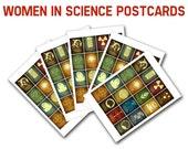 Women In Science Postcards - 5 Blank Cards, Women In Stem, Scientists from History, Nerdy Stationary, Geek Pen Pal Franklin Lamarr Goodall