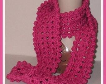 Dark Pink Scarf Neck Warmer Soft Infinity Dark Wrap Around Made in Oklahoma