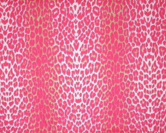 Pink Leopard Fabric Lime Green Animal Print Light Dark Heavy