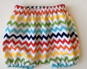 BLOOMERS BUBBLE SHORTS - Baby Bloomers - Rainbow Chevrons - Boy or Girl - Unisex Bloomers - Sizes 3 months - 3 yrs.