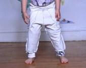 Sale Ivory Harem Pants Trousers Cotton Size 4T