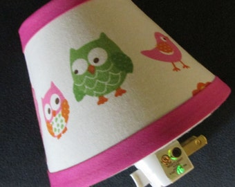 Nightlight handmade with Target Circo LOVE n NATURE fabric, Any color trim available