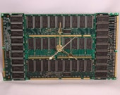 Computer Circuit Board Memory Wall Clock