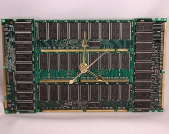 Computer Circuit Board Memory Wall Clock
