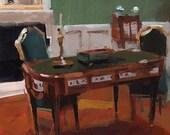 Art Print Interior Antique Desk - Federal Desk by David Lloyd