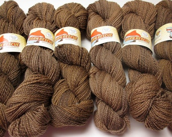 Falkland Fingering Solids - Hand dyed gradient wool yarn, 210 yards, 50g/1.8oz, BARK, painted semisolid shawl sock handdyed ombre