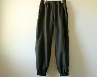 WOOL TROUSERS - pants / long wool pants / black / dark brown / winter / women / organic / eco / made in australia / handmade / pamelatang