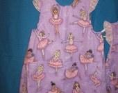 Little Girl Ballerina Smock Apron 4T - 5T