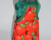 Sweet Strawberry Garden Dish Soap Bottle Apron Cower Wrap Party Favor Staffer Small