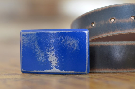 Royal Blue Recession Belt Buckle by Fosterweld