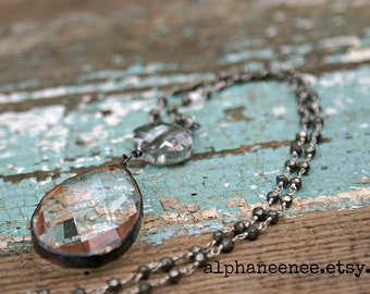 Princess Mary romantic soldered crystal pendant rosary chain necklace