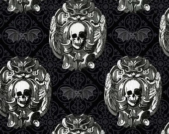 Michael Miller Gothic Skulls Quilters Cotton 1 Yard