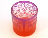 Thunderbird Lowball DOF Tumbler Glass - Etched and Painted Glassware - Custom Made to Order Barware