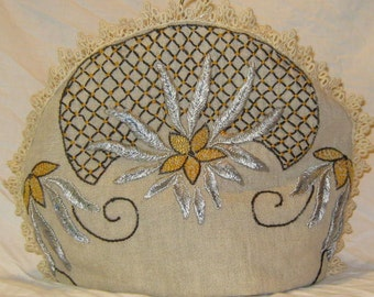 Antique Needlework Tea Cozy #1466