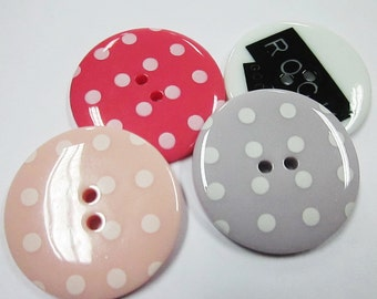 ON SALES 2-hole Jumbo Buttons - 10 pcs