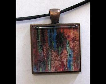 Pendant with Leather Band, Art, Jewelry, Necklace, Print, Karina Keri-Matuszak, Raw Art