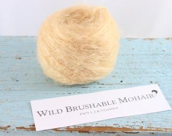 Waldorf doll Yarn  Wild Mohair Straight ( Brushable)  50 grams Honey Blonde