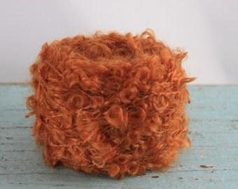 Waldorf doll Yarn Mohair/ Wool  Wild Mohair Boucle  50 grams Carrot