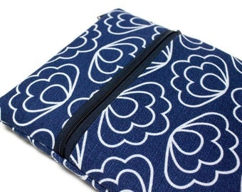 11 or 13 Inch MacBook Air Case Women or Girls Floral Laptop Cover Yoga Pro 3Sleeve - Blue Scallops