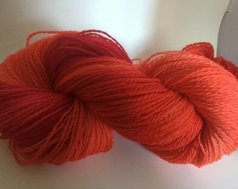 Orange Fusion - 4ply sock yarn 100g