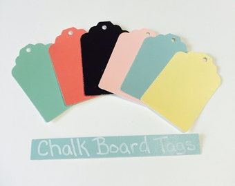 Bakers Dozen Large Color Chalkboard Hang Tags