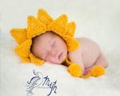 newborn photography prop crochet hat..you are my sunshine