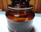 Small Brown Apothocary Trinket or Storage Jar