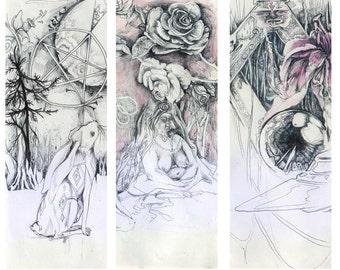 3 print set // Moon Gazing Hare -- Light & Levitation -- Bower