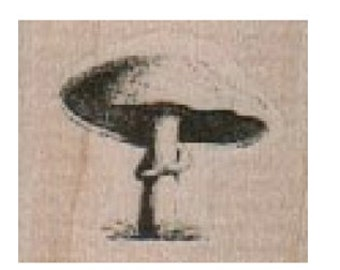Rubber stamp    Mushroom   wood Mounted  scrapbooking supplies number 19121