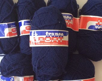 """Navy Blue """"France Sport"""" imported sport weight yarn"""