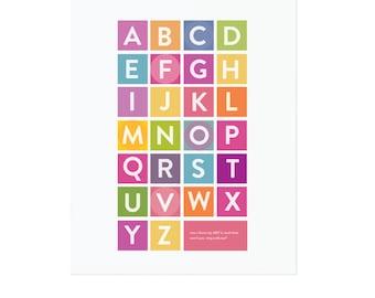 """Alphabet, Art Print 8.5"""" x 11"""""""