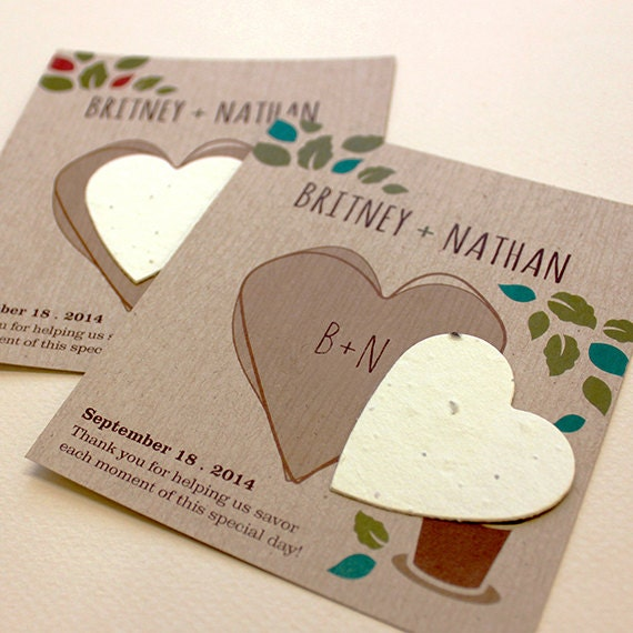 25 Herb Rustic Seed Paper Wedding Favors