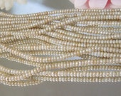 Czech Glass Pearl Luster Picasso Rondelle- 3mm- 100- Bastet's Beads