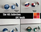 NFL Collection earrings and rings - AFC South Texans, Colts, Jaguars, Titans