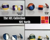 NFL Collection earrings and rings - NFC North Bears, Lions, Packers, Vikings