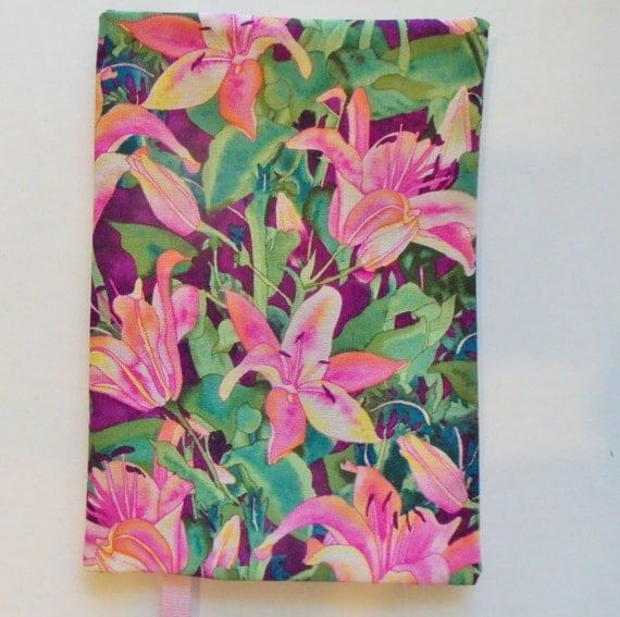 Paperback Book Cover Material : Fabric paperback book cover day lilly print for