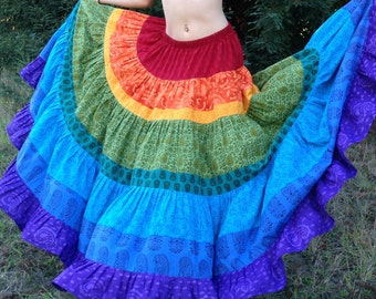 Skirt, womens skirt, gypsy skirt, bohemian skirt, super twirly, handmade, free size, plus size, juniors skirt