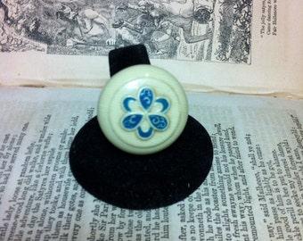 Vintage bakelite button ring