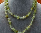 Handmade Natural Lemon Green Jade Gemstone 33.25 inch Necklace or Wrap Bracelet ArtRave item# 5N-50332
