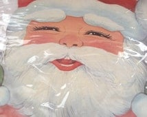 Vintage Christmas paper Santa, honey comb cut out, never used still in package, excellent condition
