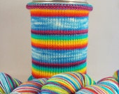 Nothing Says Screw You Like a Rainbow: Hand-dyed gradient self-striping sock yarn, 80/20 SW merino/nylon