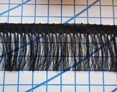 "Victorian inspired Delicate Rayon Black Fringe sewing trim 1/3/6 yards x 3.5""  Flapper Costume Piano Scarf antique stool trim"