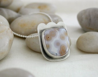 Ocean Jasper Scalloped Necklace (Confection Necklace)