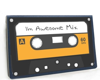 I'm Awesome Mix tape Moleskine sketchbook