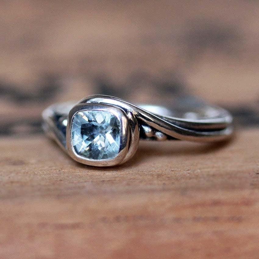 aquamarine engagement ring alternative engagement ring. Black Bedroom Furniture Sets. Home Design Ideas